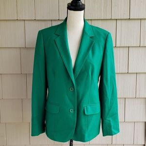 Vtg Pendleton virgin wool green classic blazer 12